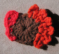 Crochet Turkey Pin