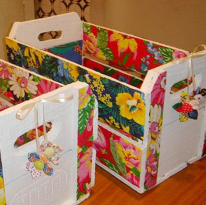 Tutorial de artesan as 10 ideas de muebles neor sticos - Como forrar un armario con tela ...