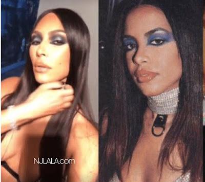 Twitter is not feeling Kim Kardashian dressed up as Aaliyah for Halloween