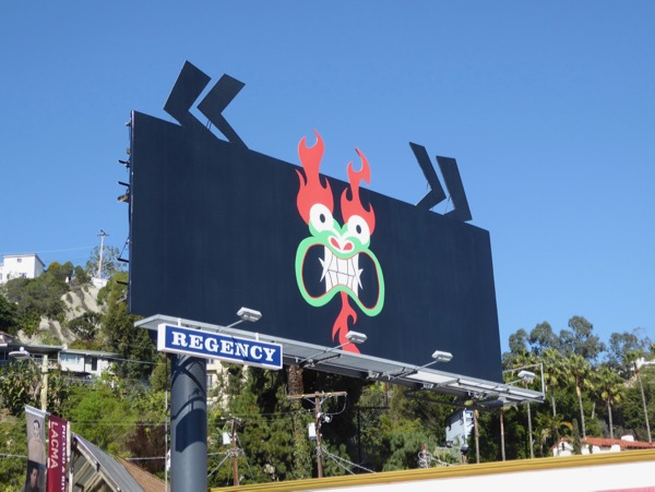 Samurai Jack 5 Aku cut-out extension billboard