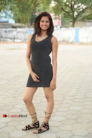 Actress Model Sravani Cute Stills in Silver Tight Short Dress at Pochampally IKAT Art Mela 2017 Launch  0008.jpg
