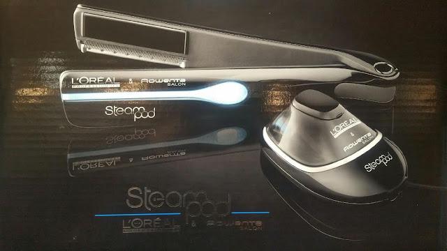 Steampod classique en noir de L'Oréal, associé avec Rowenta, 1 ère génération.