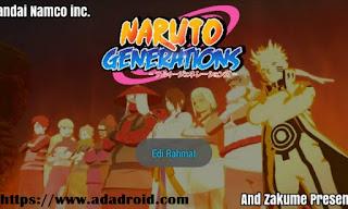Naruto Senki Generations by Edi Kun Sr Apk