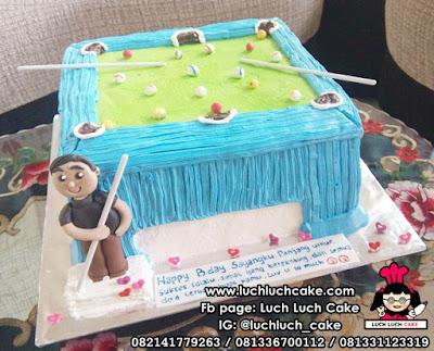 Kue Tart Bentuk Maja Bilyard
