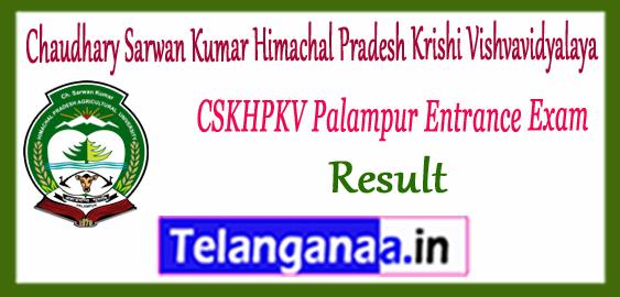 Chaudhary Sarwan Kumar Himachal Pradesh Krishi Vishvavidyalaya Palampur Entrance 1st 2nd 3rd Merit List Result 2017-18 Counselling