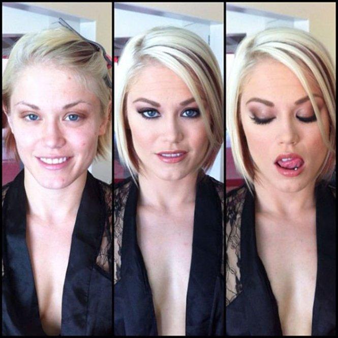 Maquilhagem: O antes e depois de 7 atrizes porn