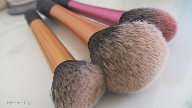 Real Techniques make up brushes, buffing foundation brush, powder brush and blusher brush