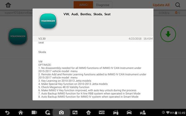 auro-otosys-vw-v230-update
