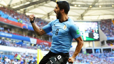 Uruguay Luis Suarez scored the lone goal of the game