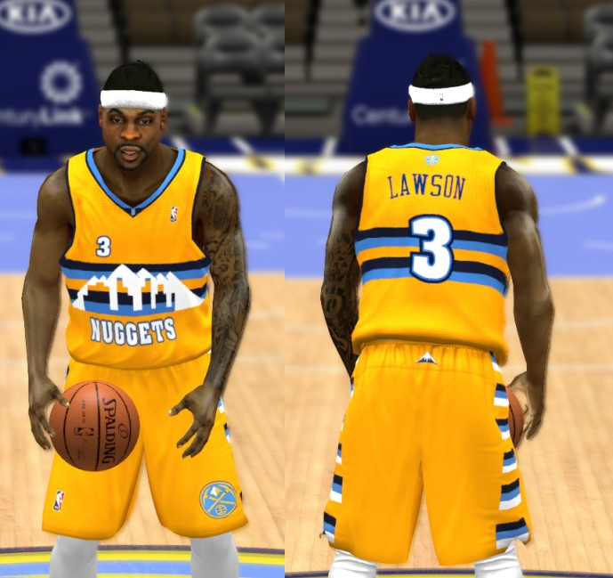 NBA 2K14 Denver Nuggets Jersey Pack