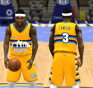 ... NBA 2K14 Complete Denver Nuggets Jersey Patch ... 9a9455d5d