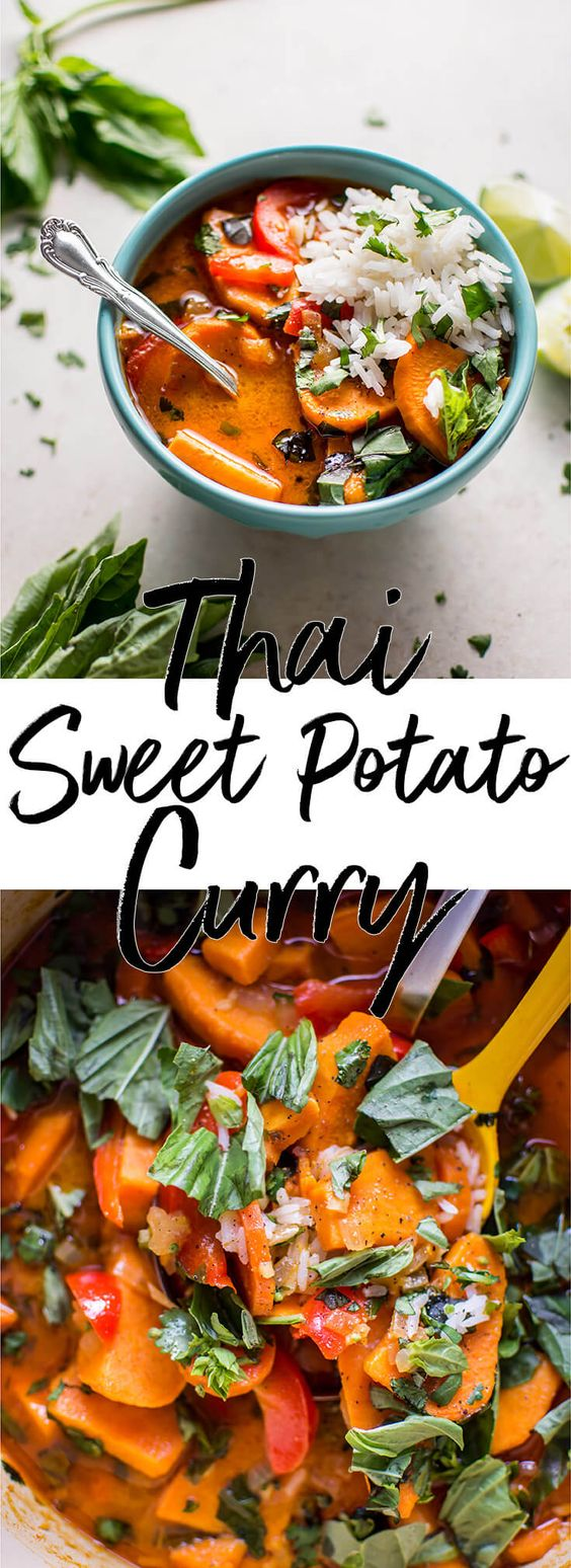 THAI SWEET POTATO COCONUT RED CURRY
