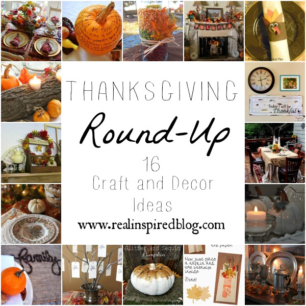 16 Craft and Decor Ideas for Thanksgiving