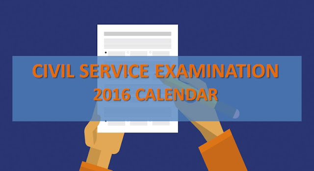 Civil Service Exams in 2016 schedule