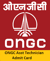 ONGC Asst Technician Admit Card