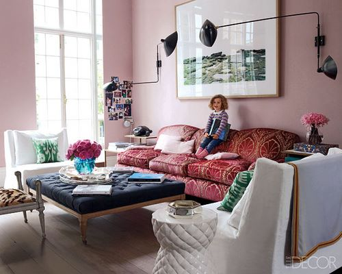 pink rooms, pink masculine room, men and pink