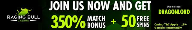 Raging Bull casino | 350% Welcome Bonus and 50 Free Spins