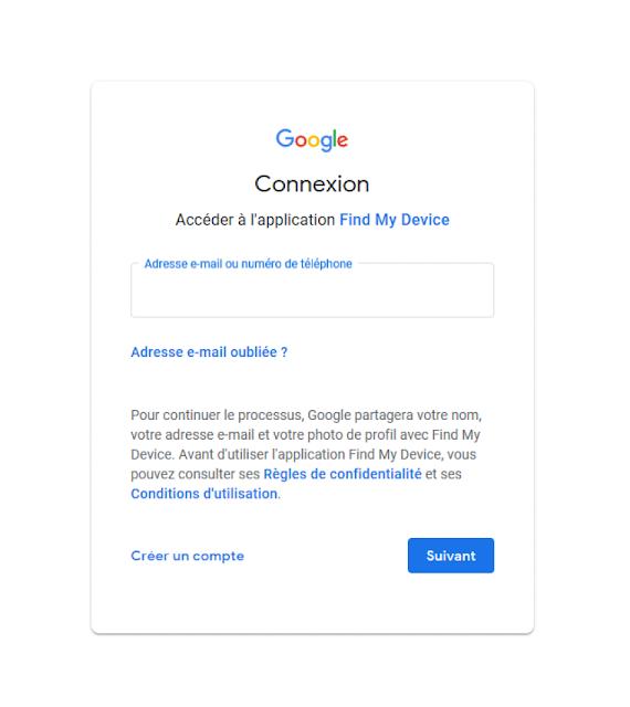 حساب جوجل لتحديد موقع جهازك الاندرويد  Android