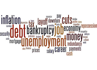 Word collage about the economy