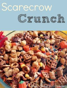 Yummy scarecrow crunch!