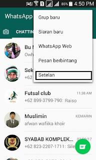 Cara Backup Pesan WhatsApp di HP Android