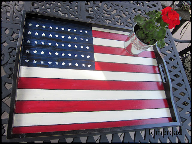 American Flag tray DIY tutorial