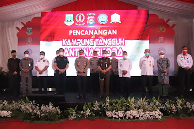 Cegah Narkoba, Ditresnarkoba Polda Banten Canangkan Kampung Tangguh Narkoba di Kelurahan Kasunyatan