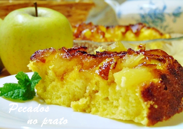 Bolo de maçã de frigideira