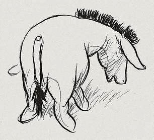 Eeyore illustrated by E. H. Shepard