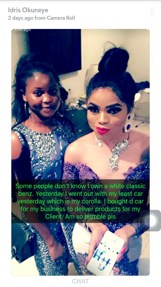 Bobrisky explains why he doesn't drive his Benz