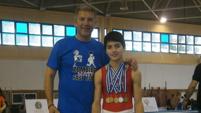 Σάρωσε τα μετάλλια ο Γιώργος Κελεσίδης στο Πανελλήνιο Πρωτάθλημα Ενόργανης Γυμναστικής