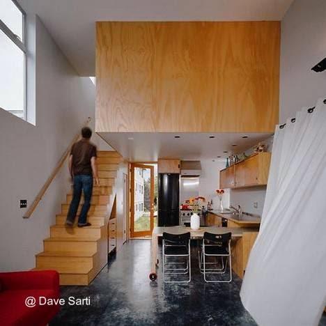 Sector del interior de la casa pequeña