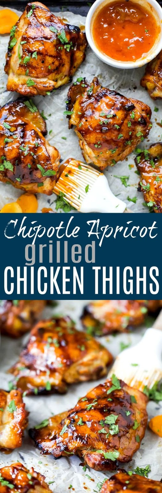 Chipotle Apricot Grilled Chicken Thighs