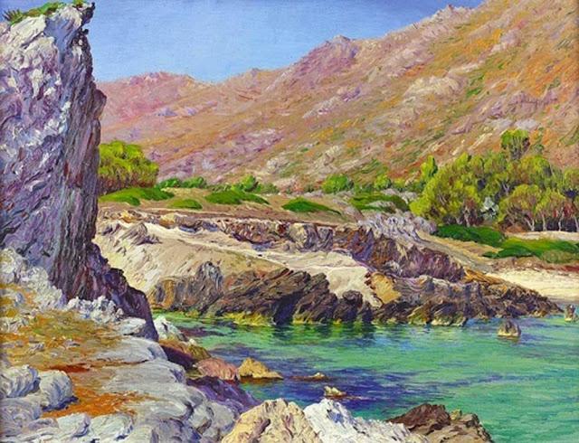 Manuel Ramírez Ibáñez, Mallorca en Pintura, Cala San Vicente, Mallorca en Pintura, Paintirng of Cadaqués, Mallorca pintada, Paisajes de Mallorca, Mallorca en Pintura
