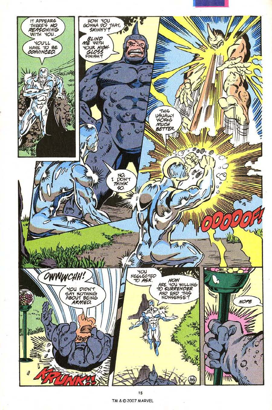 Read online Silver Surfer (1987) comic -  Issue #54 - 17