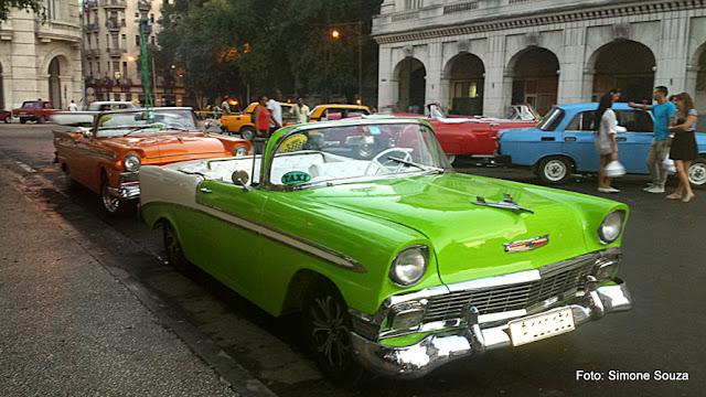 Carros antigos em Havana, Cuba