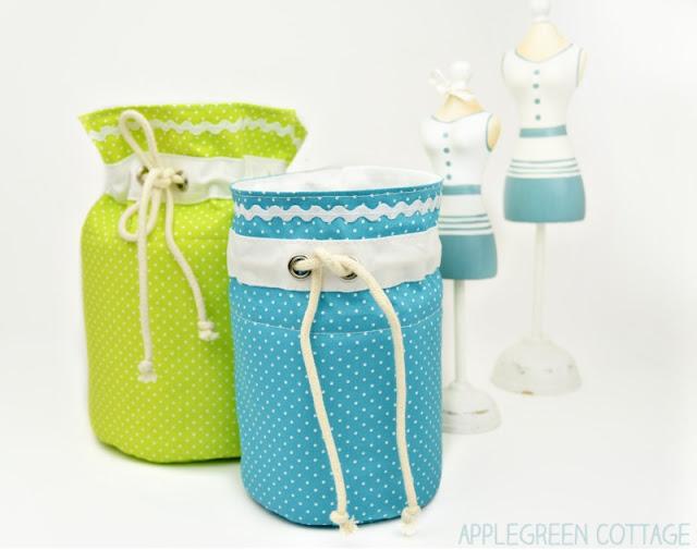 christmas stocking alternative - fabric basket pattern