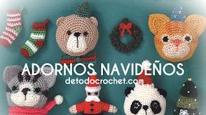 Patrones Crochet para Navidad / Revista con adornos navideños