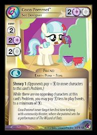 My Little Pony Coco Pommel, Set Designer Marks in Time CCG Card