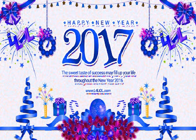 New Year 2017 Greetings Friends