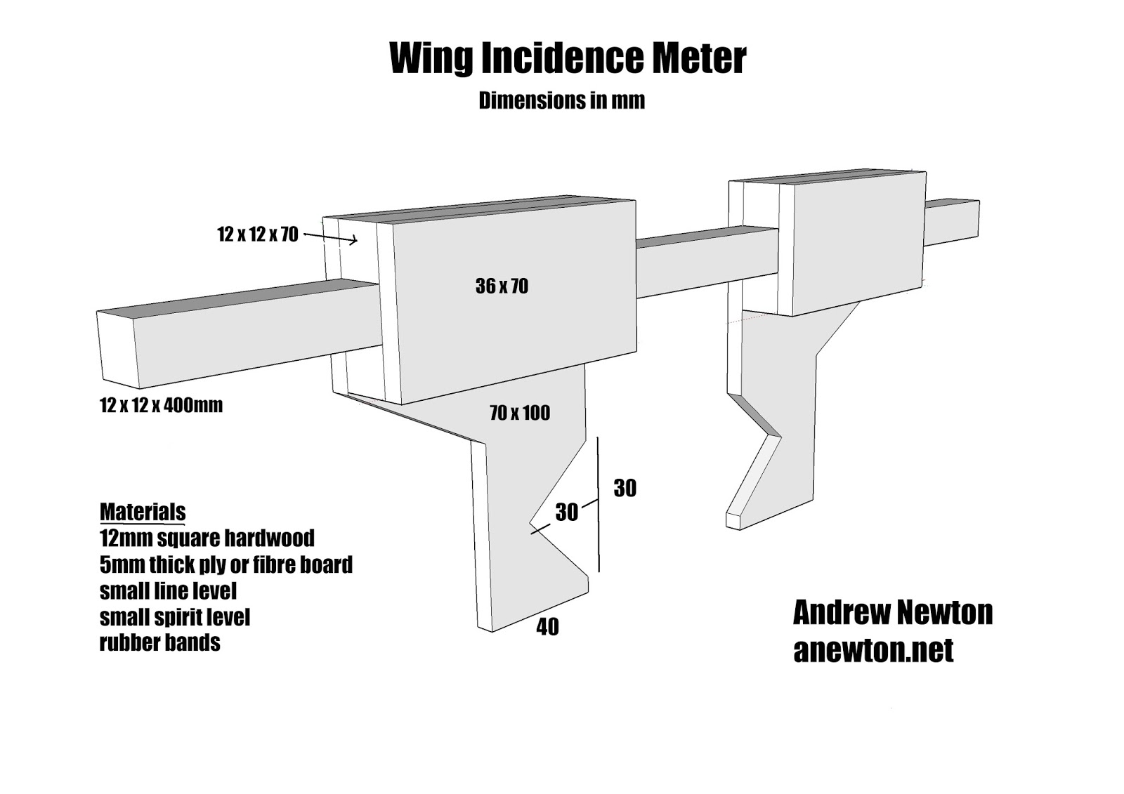 Newton airlines diy wing incidence meter a4 sized plans download and print for your own use pooptronica
