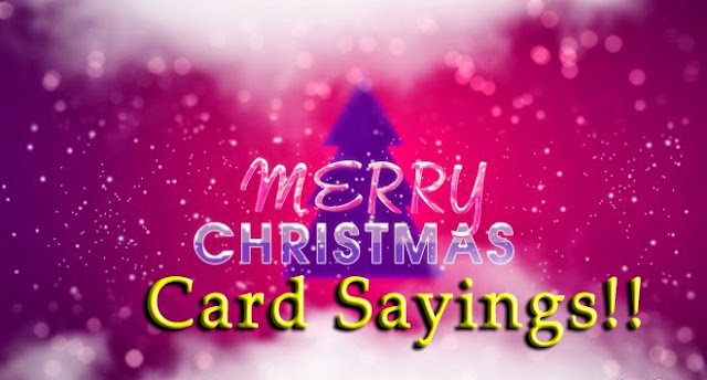 Christmas Card message