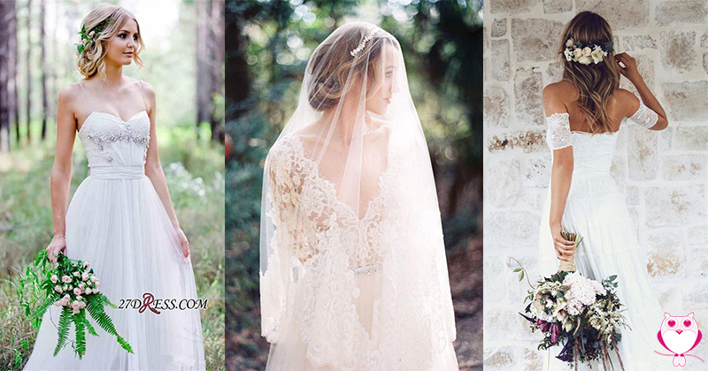 10 Simple and Delicate Wedding Dresses