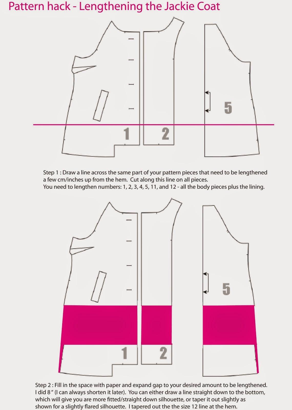 Jackie Coat Sewalong - Lengthening your coat.