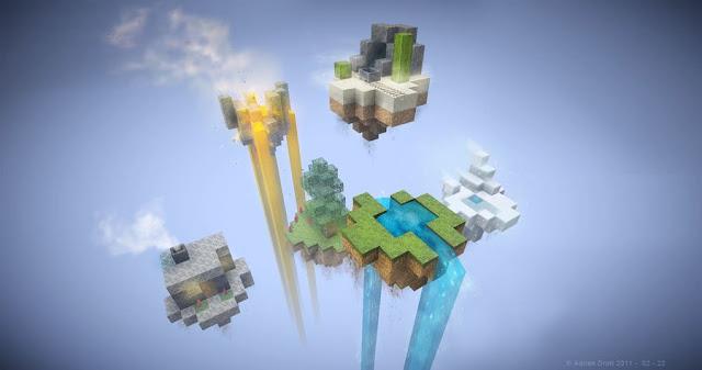 modo de juego skywars