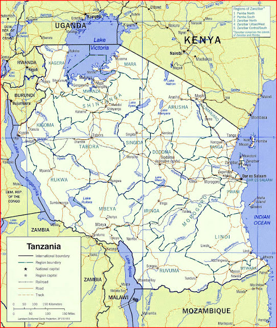 image: Tanzania Political map