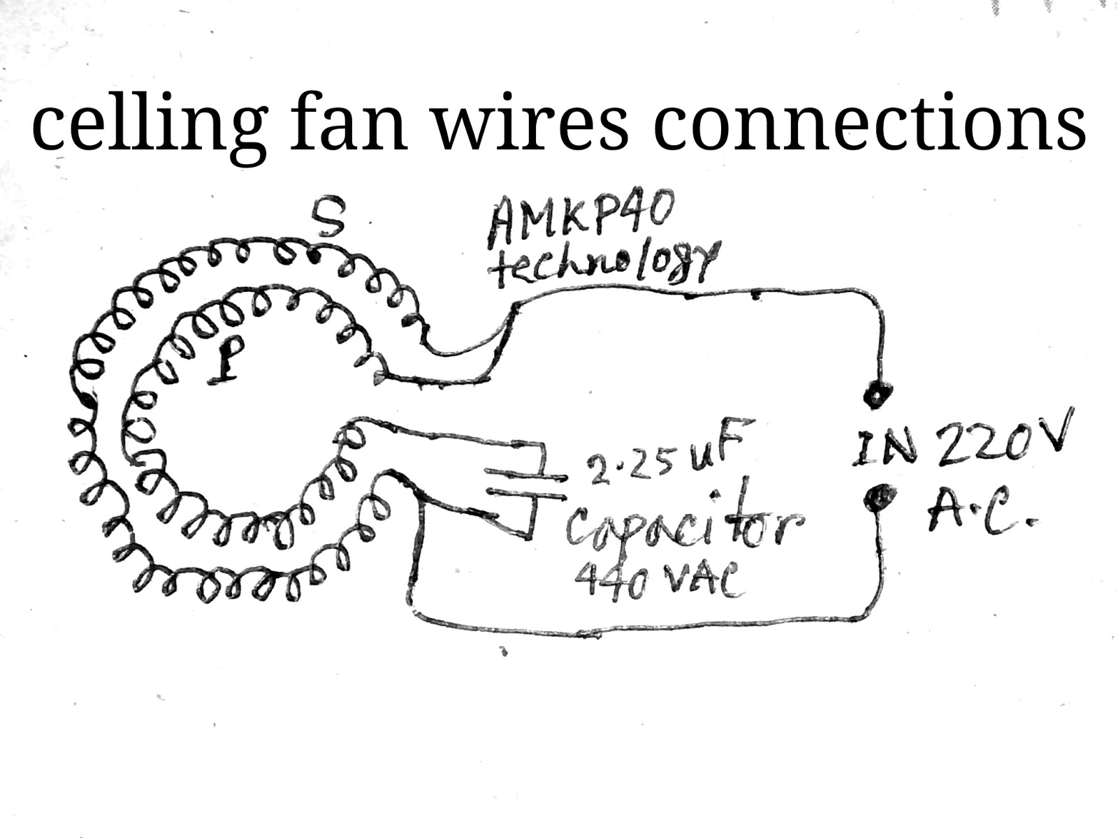 Celling Fan Coil Winding Circuit Diagram