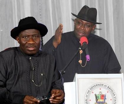 Seriake Dicson and Goodluck Jonathan