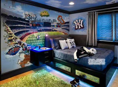 3D LED wallpaper designs for kids bedroom