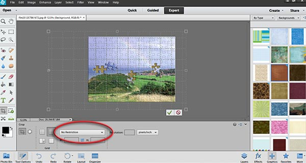 Resize canvas using Crop Tool